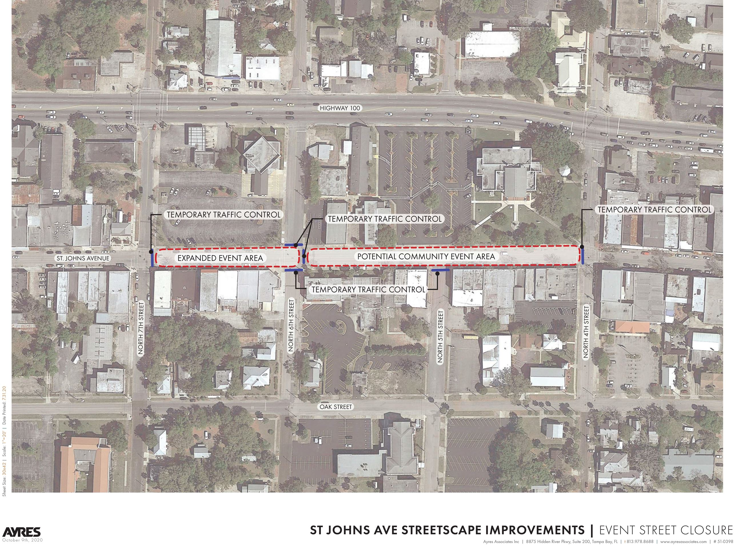 ST JOHNS AVE _Conceptual Design_Potential Event Street Closures