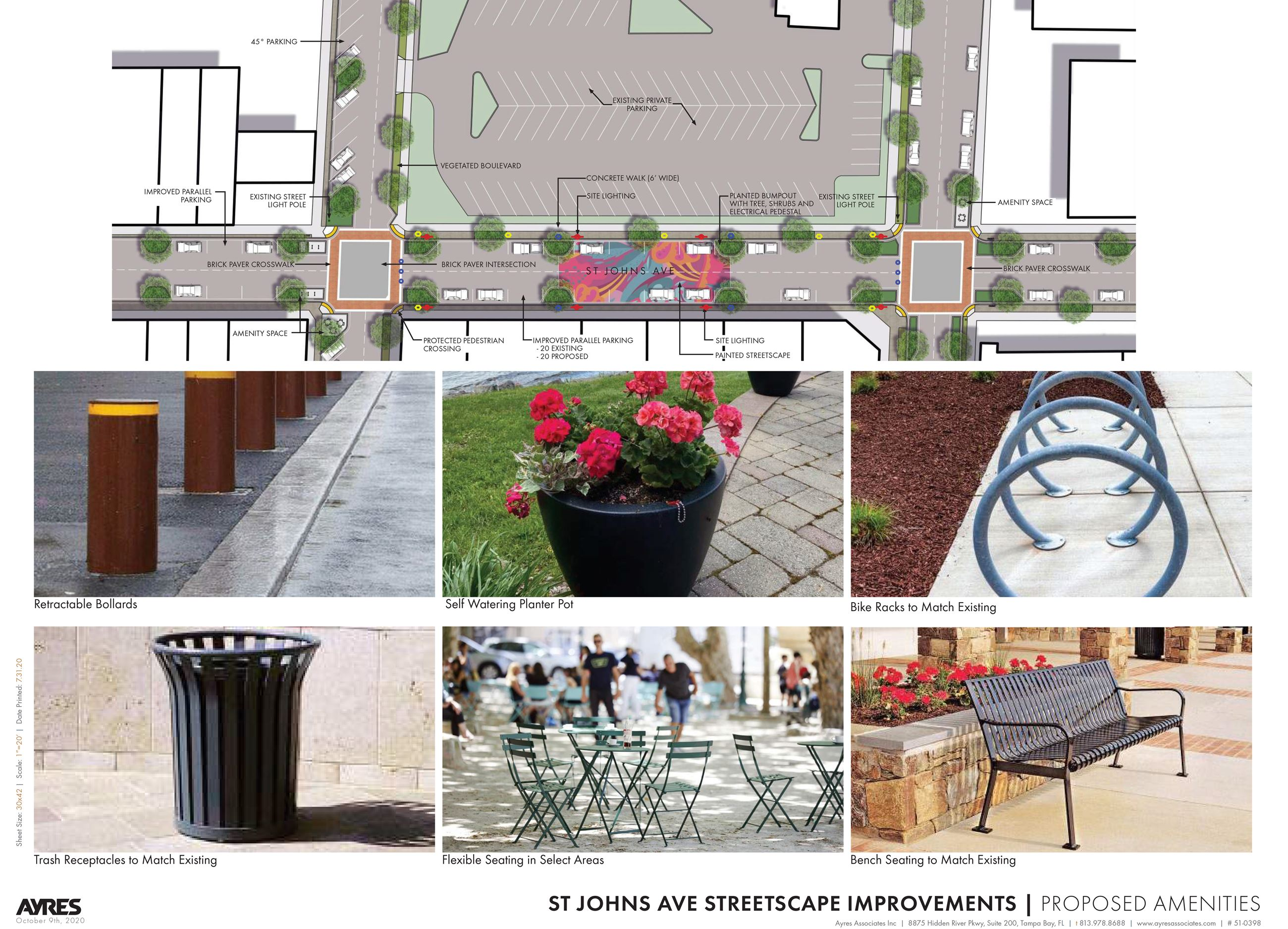 ST JOHNS AVE _Conceptual Design_Proposed Amenities
