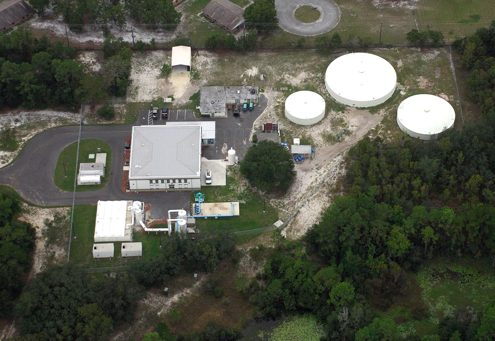 RC Willis Water Treatment Plant Aerial
